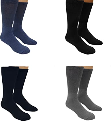 Gilbin Diabetic Non Skid Hospital Slipper Socks,size 9-11,6 Pairs