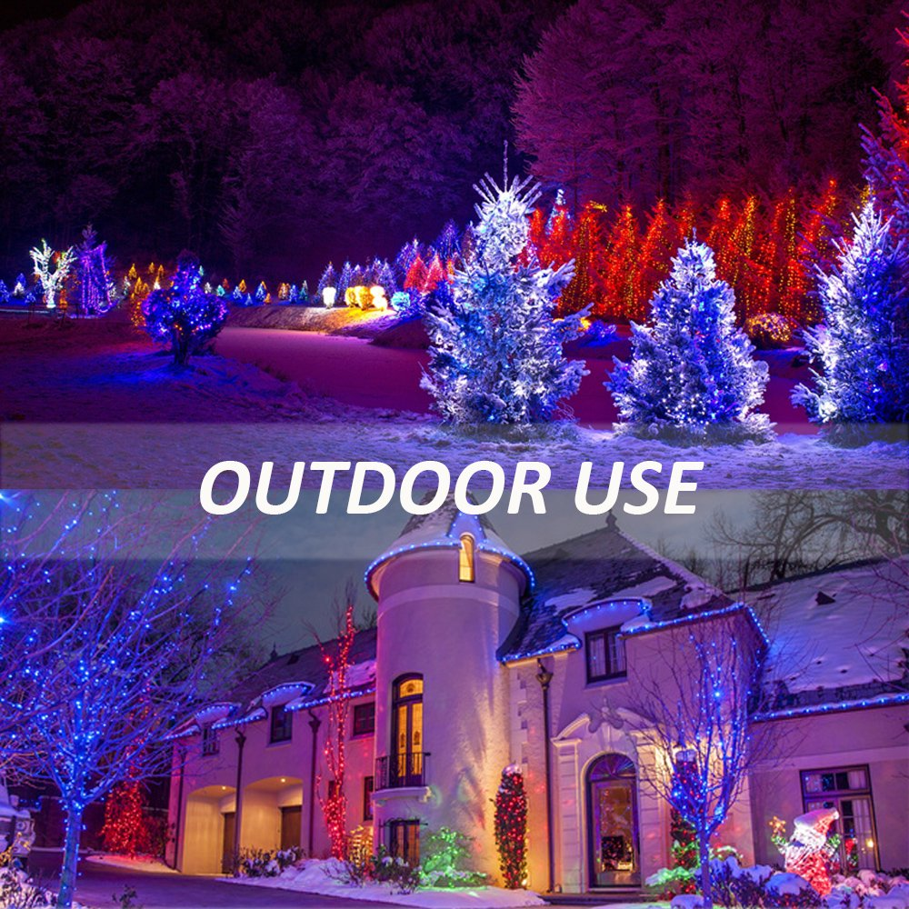 Ustellar 2 Pack 30W RGB LED Flood Lights, Outdoor Color Changing Floodlight with Remote Control, IP66 Waterproof 16 Colors 4 Modes Dimmable Wall Washer Light, Stage Lighting with US 3-Plug by Ustellar (Image #7)