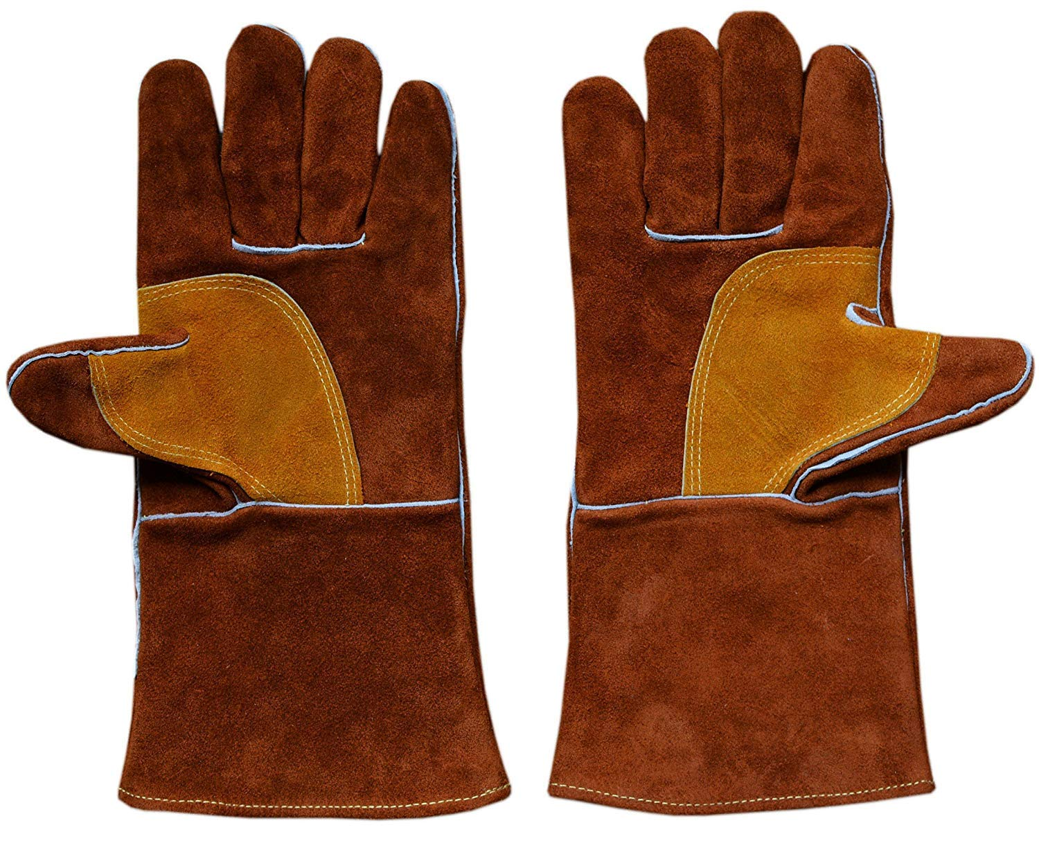 Brown with reflective tape ZaoProteks ZP1712 Welding Gloves