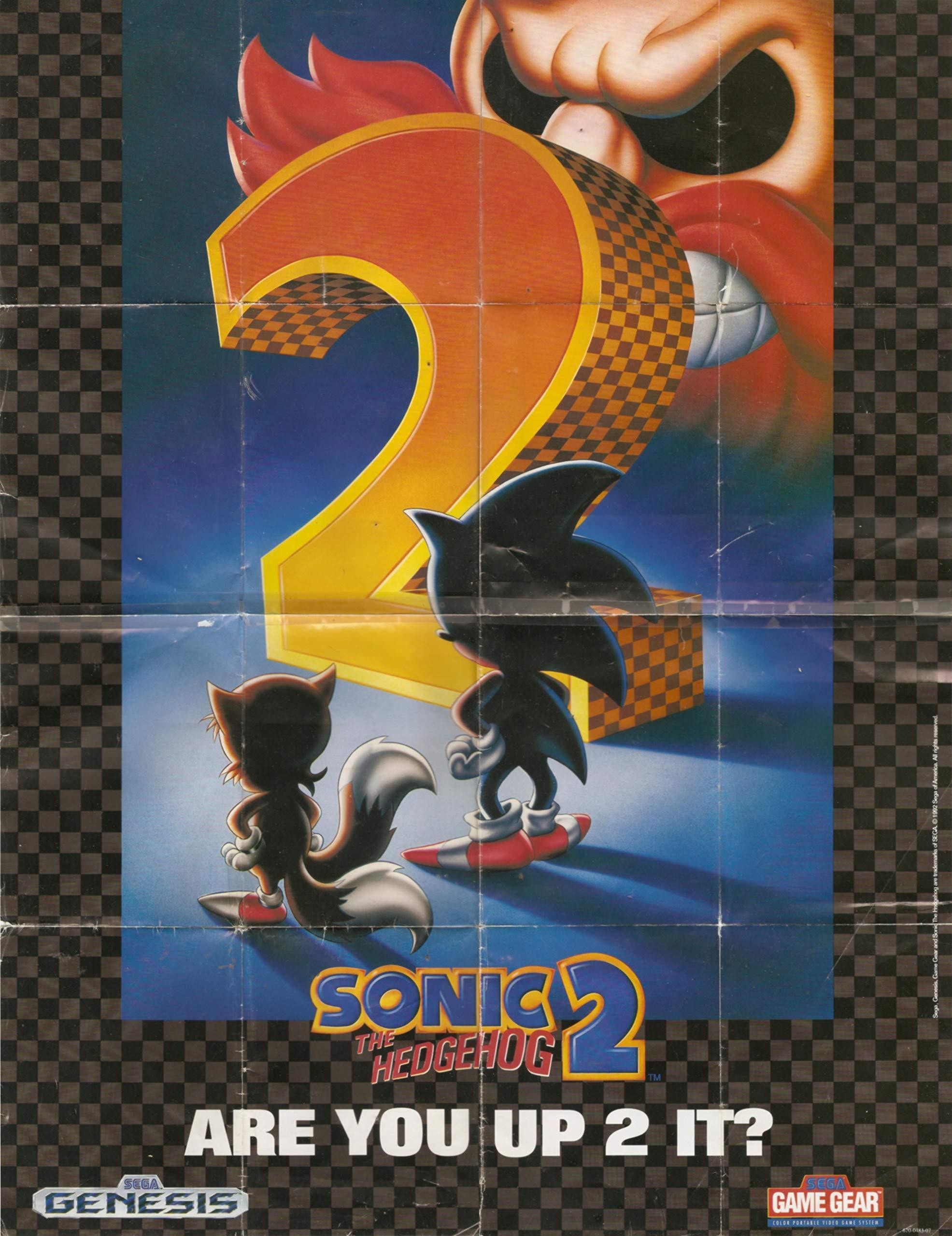 Vintage 1992 Sega Genesis Reversible Sonic The Hedgehog 2 Are You Up To It Way Ahead Of The Game Insert Poster Batman Returns Sega Amazon Com Books