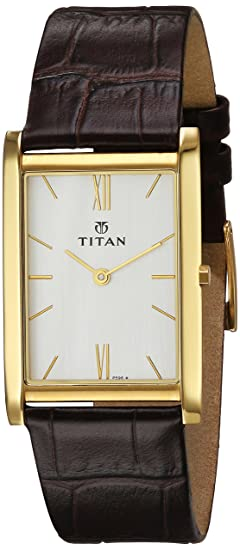 Titan Edge Analogue Quartz Stainless Steel White Dial Men's Watch - 1043YL03 Men at amazon