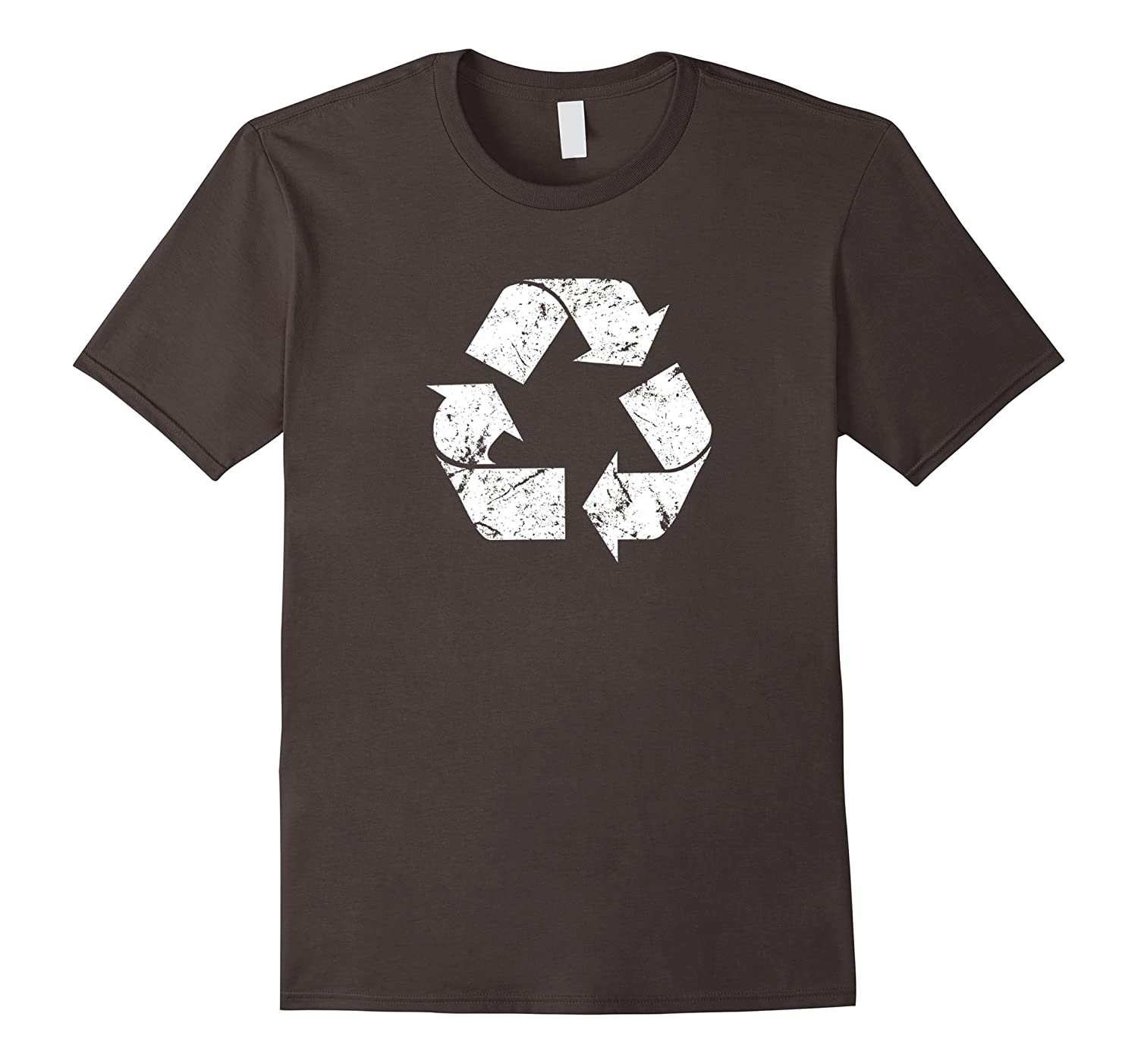 Earth Day Vintage White Recycle T-Shirt-CD