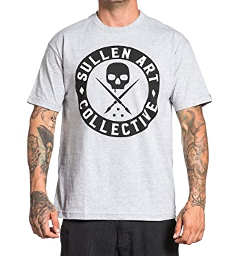 7f836dc67c Sullen Clothing Men's All Day Badge Short Sleeve Tee, Heather Grey/Black 3XL