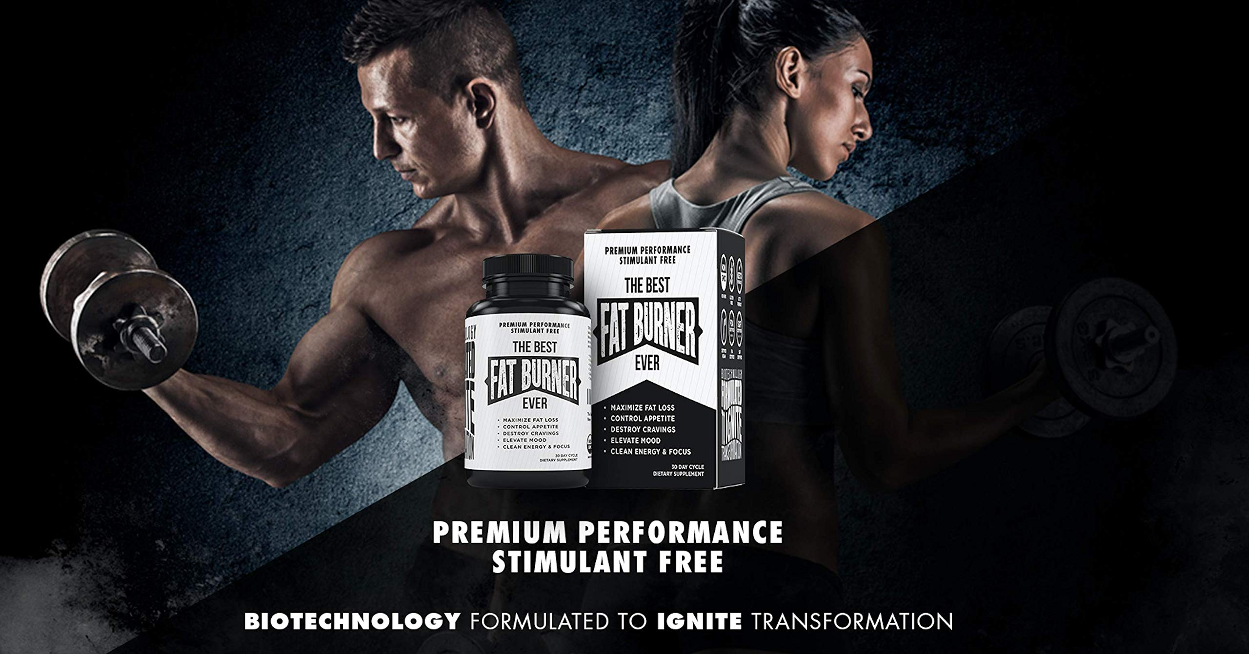 The Best Fat Burner Ever - Weight Loss Supplement, Appetite Suppressant, Stimulant Free - Premium Fat Burning Thermogenic - Lepticore, Berberine, White Kidney Bean Extract, Piperine, More - Diet Pills by The Best Fat Burner Ever