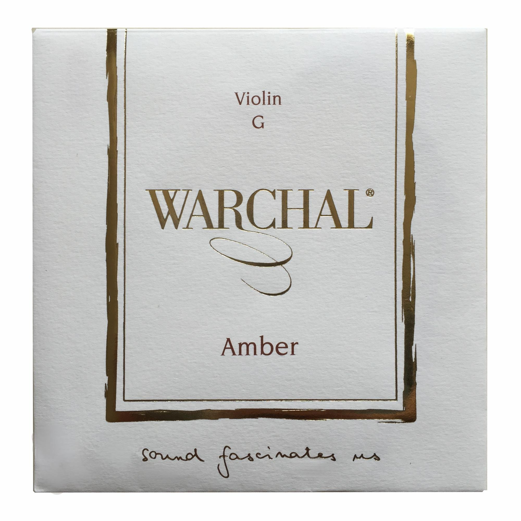 Warchal Amber Violin Strings Set 4/4. Loop end E