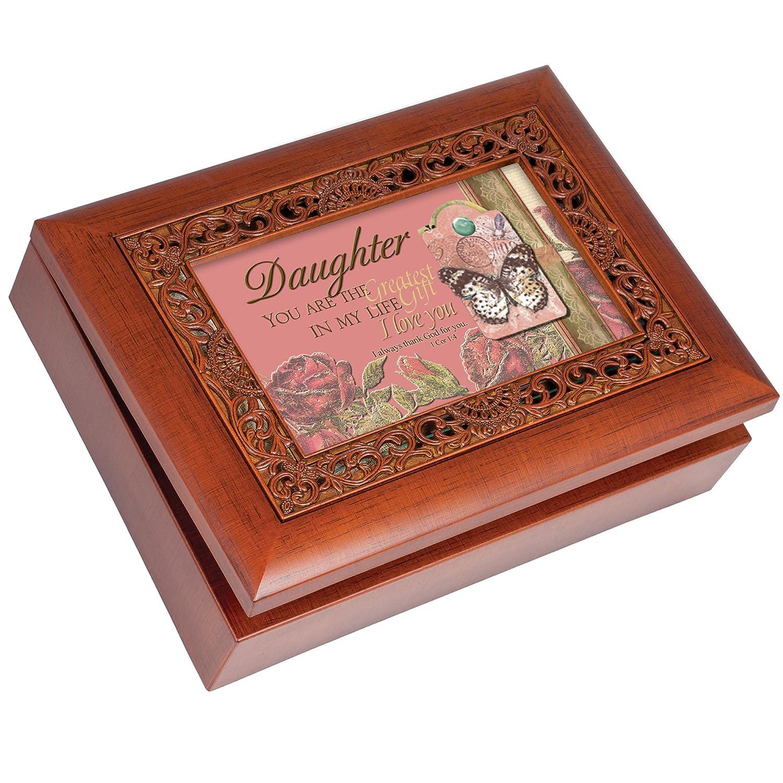手数料安い Daughter Cottage Garden Art Inspirational Woodgrain Ornate Music Music Box Plays Plays How Great Thou Art B007P7ZRQ8, ライパラ!:5839b48e --- arcego.dominiotemporario.com