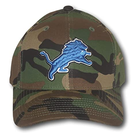 84f25dda77b Amazon.com   Fan Apparel Detroit Lions Green Camouflage Adjustable ...