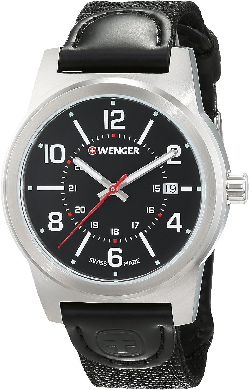 Wenger Reloj Analogico para Hombre de Cuarzo con Correa en Nailon 01.0441.165