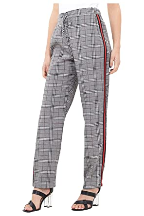 7ec835917af9 Brave Soul Women's Prince of Wales Check Trousers with Tape Stripe SS18:  Amazon.co.uk: Clothing