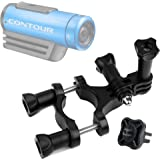 DURAGADGET Durable Contour Action Camera Handlebar Mount - High Quality Bike Handlebar Mount For Contour +2, Contour Roam 2 & Contour Roam - Plus BONUS GoPro Screw Thread Adapter!