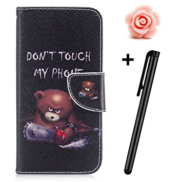 OnePlus 5 Coque Tui Portefeuille Toyym Premium Fleur Animal Dessin Anim Motif