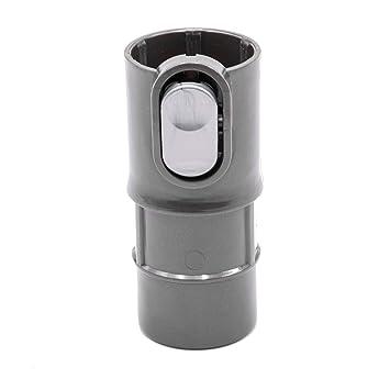 vhbw Adaptador manguera de aspiradora conexión Dyson a 32mm para Dyson DC07 Standard, DC07 Tool Kit, DC08, DC08 Allergy Blueturquoise convertidor: ...