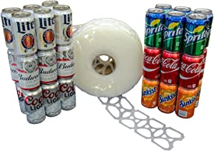 1000 Count Roll 6-Pack Rings Universal Fit - Fits all 12oz Beer Soda Cans - FAST SAME DAY SHIPPING
