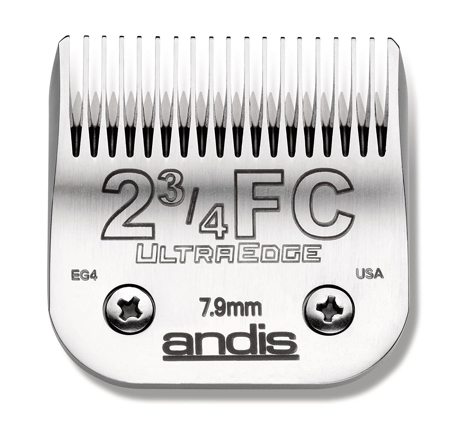 Andis Carbon-Infused Steel UltraEdge Dog Clipper Blade, Size-1-1/2, 5/32-Inch Cut Length (64077)