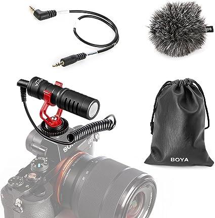 Todo para el streamer: BOYA Video Micrófono Youtube Vlogging Facebook Livestream Grabación Shotgun Mic para iPhone HuaWei Smartphone DJI Osmo Mobile 2, para ZHIYUN Smooth Q Smooth 4 Feiyu Vimble Canon Sony DSLR Cameras