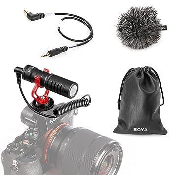 6011bcbe9c988 BOYA Video Microphone Youtube Vlogging Facebook Livestream Enregistrement  Mic Shotgun Mic pour iPhone HuaWei Smartphone DJI