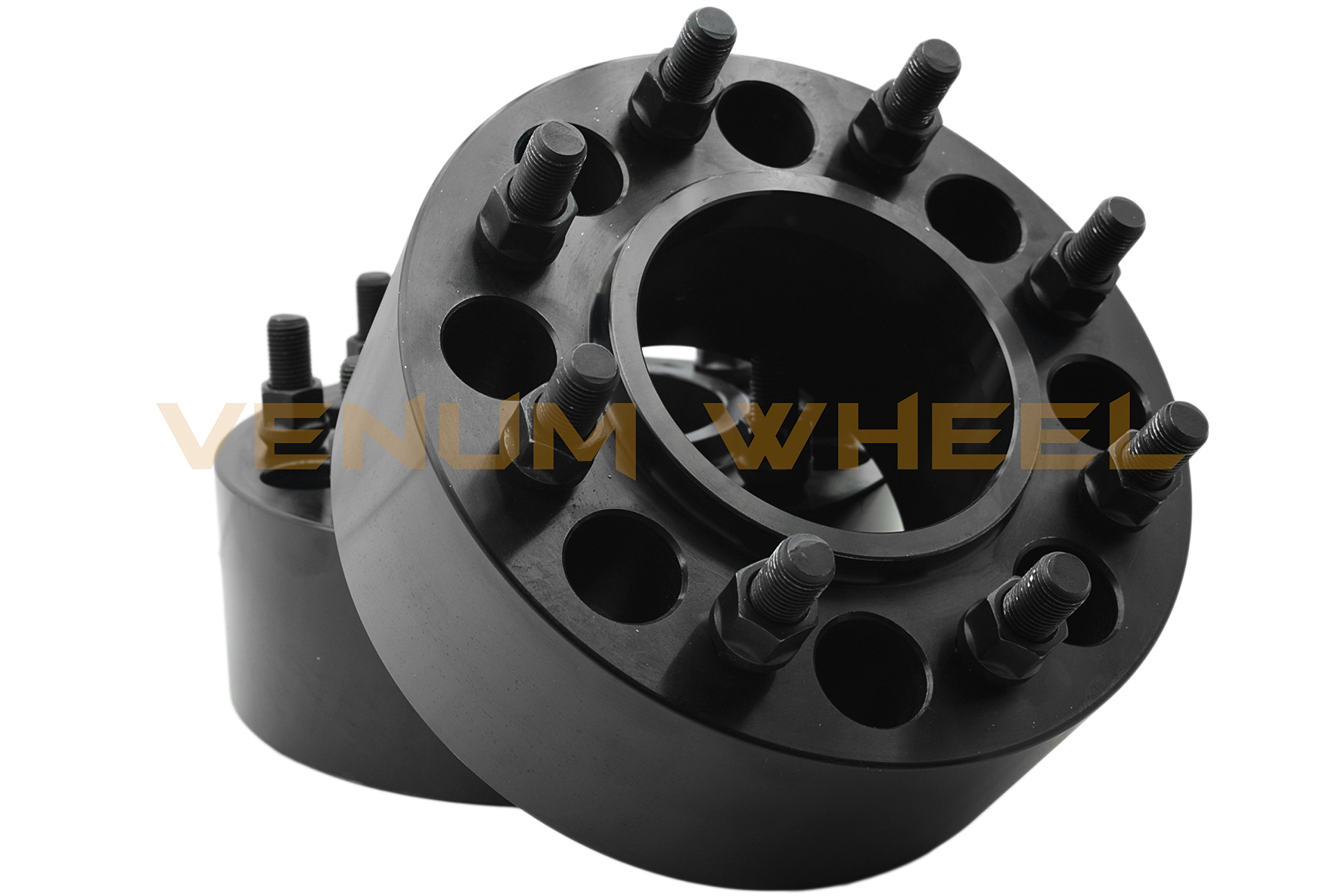 2 Pc 8x6.5'' Hub Centric Wheel Adapters 3 Inches Thick (REAR AXLE ONLY) Anodized Black For Chevy GMC 8 Lug Heavy Duty Truck Only Made In The USA