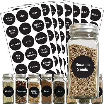 Blackboard Stickers Waterproof Chalkboard Kitchen Spice Bottles Jars Label New