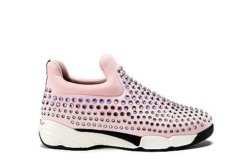 promo code 380f1 8ba5e PINKO Sneakers Donna GEM Scarpe Slip-On Con Strass Tg. 41 ...