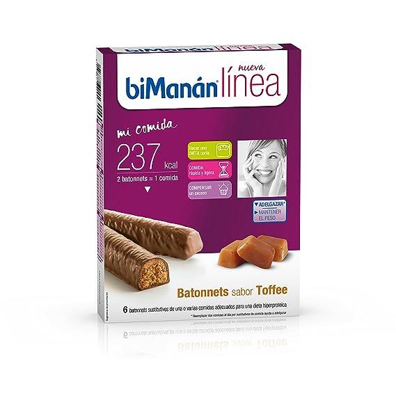Bimanán línea batonnets sabor toffee bimanán 186 g