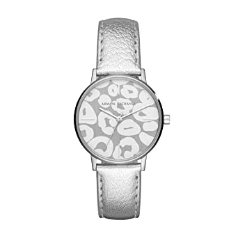 5ba16d96c429 Armani Exchange Damen Quarz Uhr mit Leder Armband AX5539  Amazon.de ...