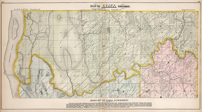 Amazon.com: County Atlas Map, Lima Township, Adams County ...