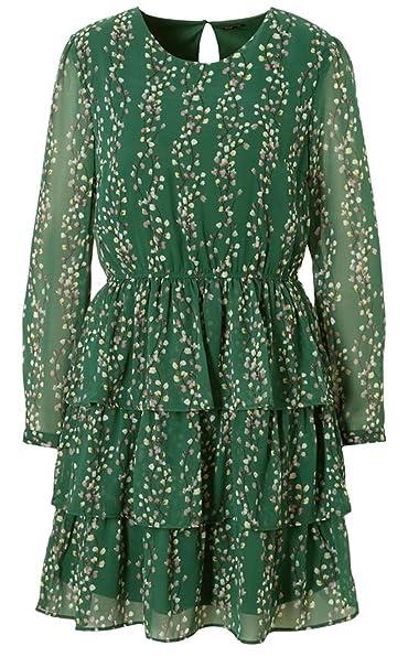 Only Vestido - Noche - para mujer Posy Green Flower Print 38: Amazon.es: Ropa y accesorios
