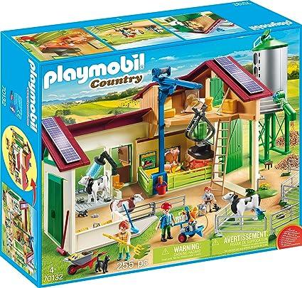 Amazon.com: PLAYMOBIL 70132 - Granja grande con silo ...