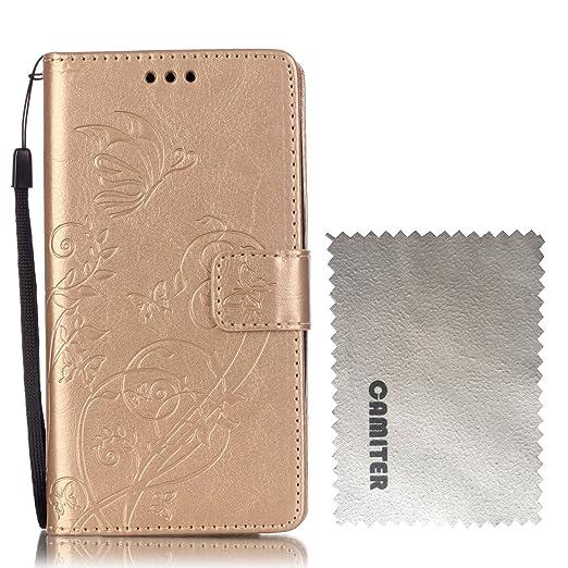 18 opinioni per Huawei Honor 4C /Huawei G Play Mini Cover,Camiter Oro Goffratura disegno della