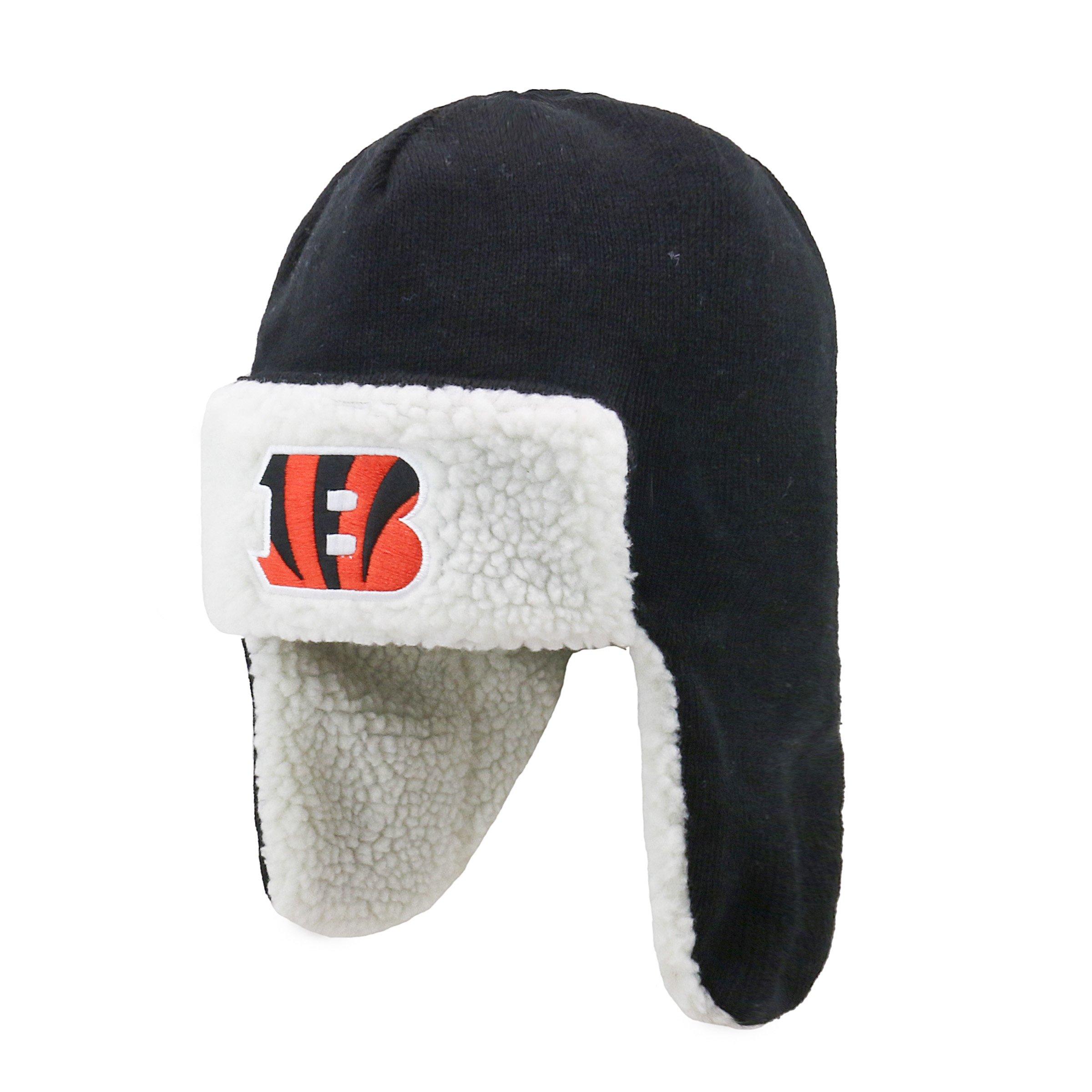NFL Cincinnati Bengals Breck OTS Knit Cap, One Size, Black