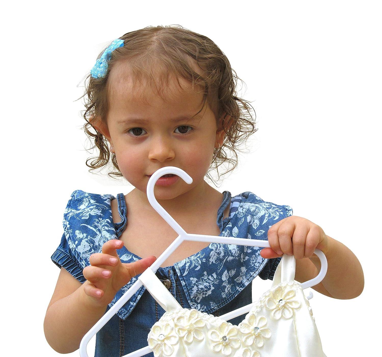 und Kinderbekleidung Babylovit 30 St/ück Kinderkleiderb/ügel starke /& formstabile Babykleiderbuegel in wei/ß f/ür Baby