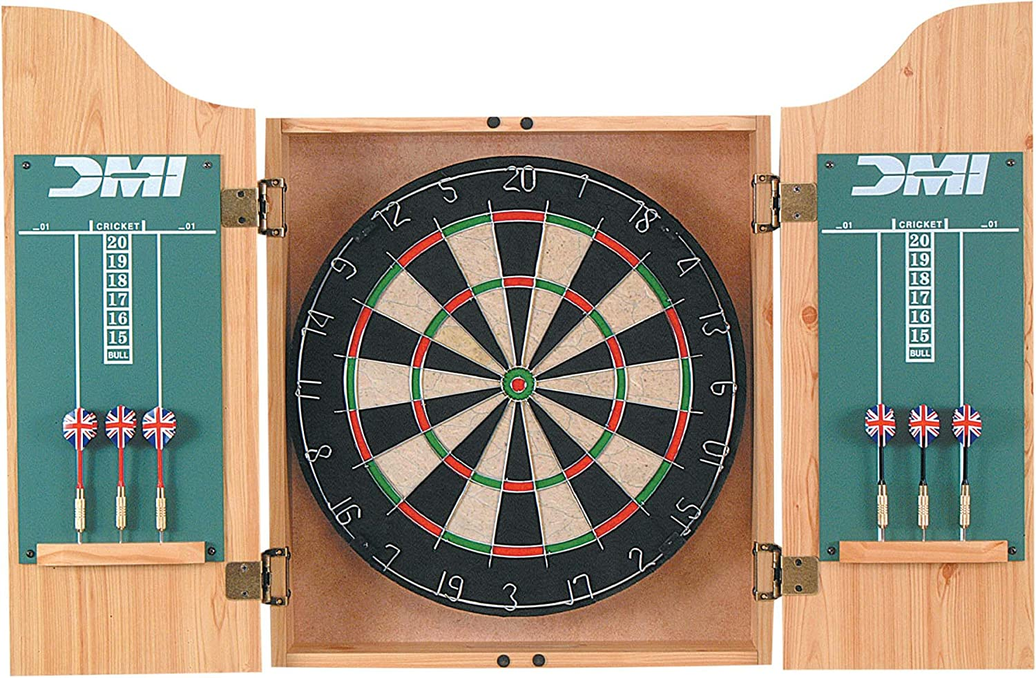 Amazon.com : DMI Bristle Dartboard in Cherry Cabinet : Dart ...