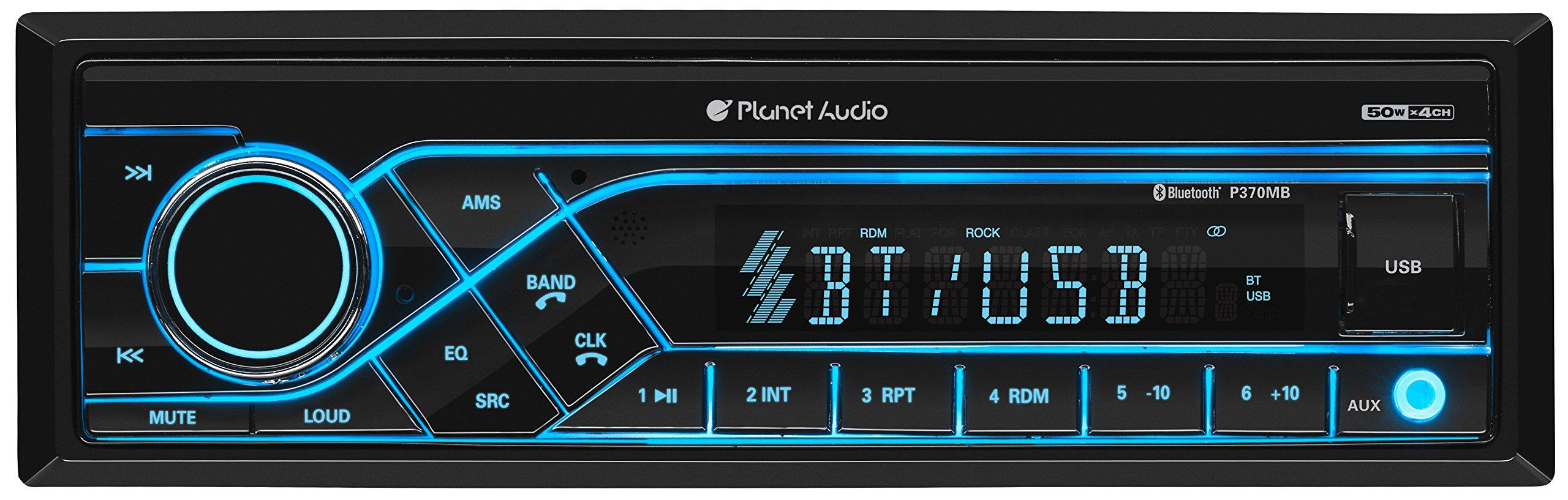 Planet Audio P370MB Car Receiver - Bluetooth / MP3 / USB, AM/FM Radio, (No CD/DVD)