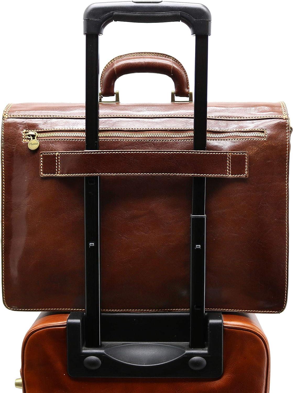 Brown Floto Luggage Venezia Briefcase One Size