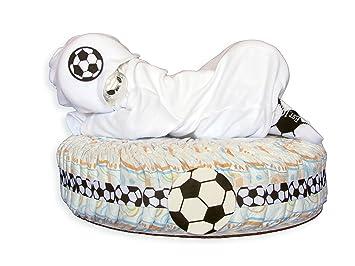 Amazoncom Baby Sport Diaper Cake Soccer New Baby Gift Basket