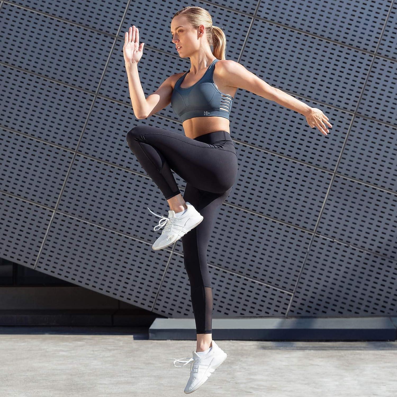 Yvette Sport BH Starker Halt Ringerr/ücken Gepolstert Gro/ße Br/üste f/ür Fitness Lauf Joggen