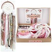 The House Phoenix Pink DIY Dream Catcher Kit Birthday Gift Crafty Wall Hanging Boho Nursery Room Decor