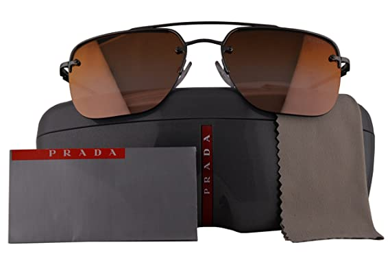 e789211c52628 Image Unavailable. Image not available for. Color  Prada Authentic  Sunglasses PS54SS Gunmetal Grey w Brown Gradient Mirror Lens ...