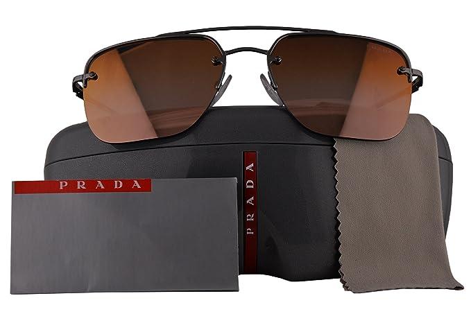 045c012caa PRADA Gunmetal Grey Brown Gradient Mirror 59 mm Lens Sunglasses ...