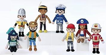 Playmobil Coleccion Completa 8 Figuras Muñecos de Peluche Originales 32cm