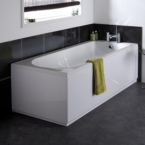 VeeBath Linx High Gloss White Bath Panel Set (1700mm X 700mm)