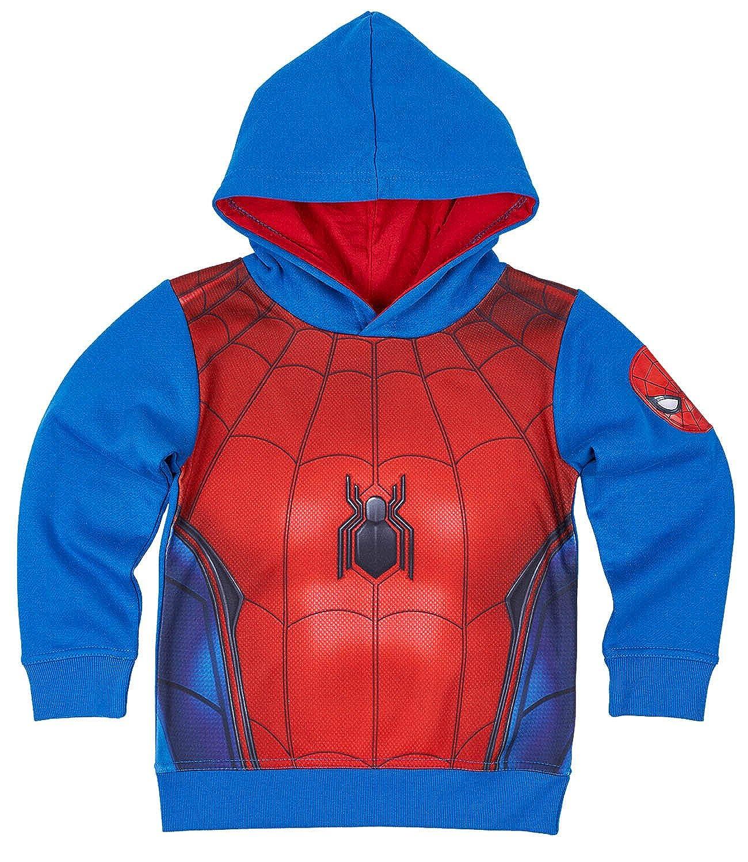 Spiderman Jungen Sweatjacke mit Kapuze oder Kapuzenpulli