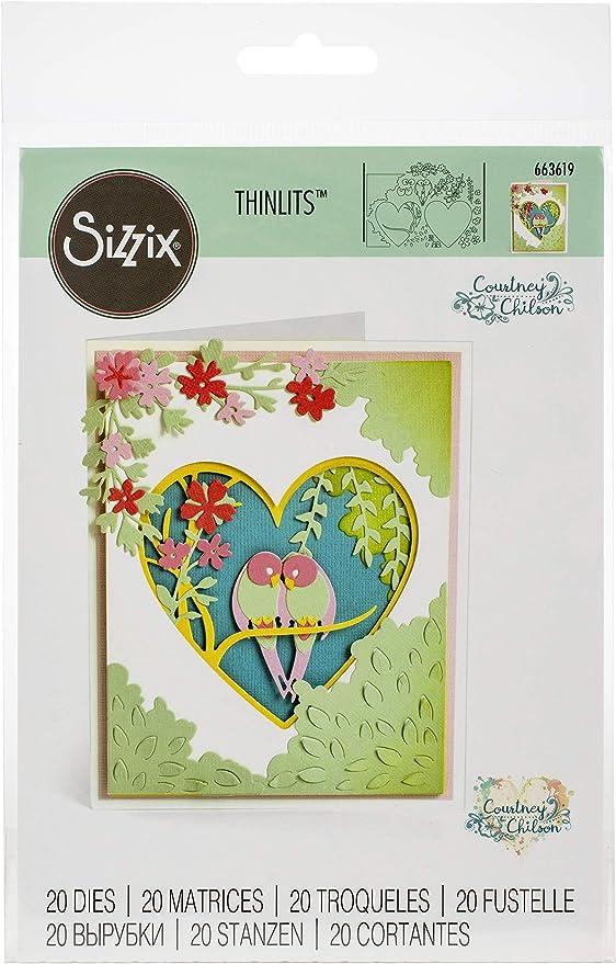Sizzix Matrice de d/écoupe Thinlits set de 8pcs 663690 Multicolore Taille unique Bo/îte Cadeau /Él/égante