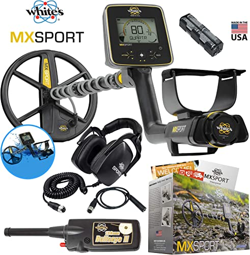 MX Sport Whites Waterproof Detector Summer Bundle w Bullseye II Pinpointer