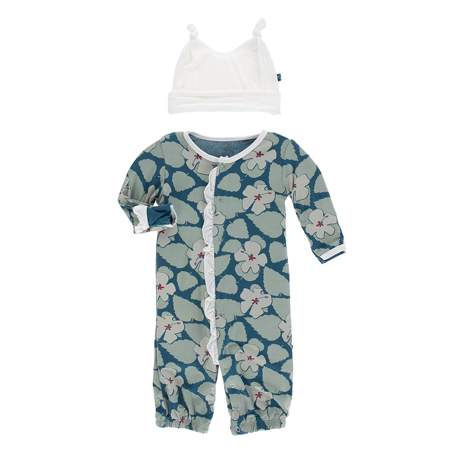 KicKee Pants Print Ruffle Layette Gown Converter and Double Knot ...