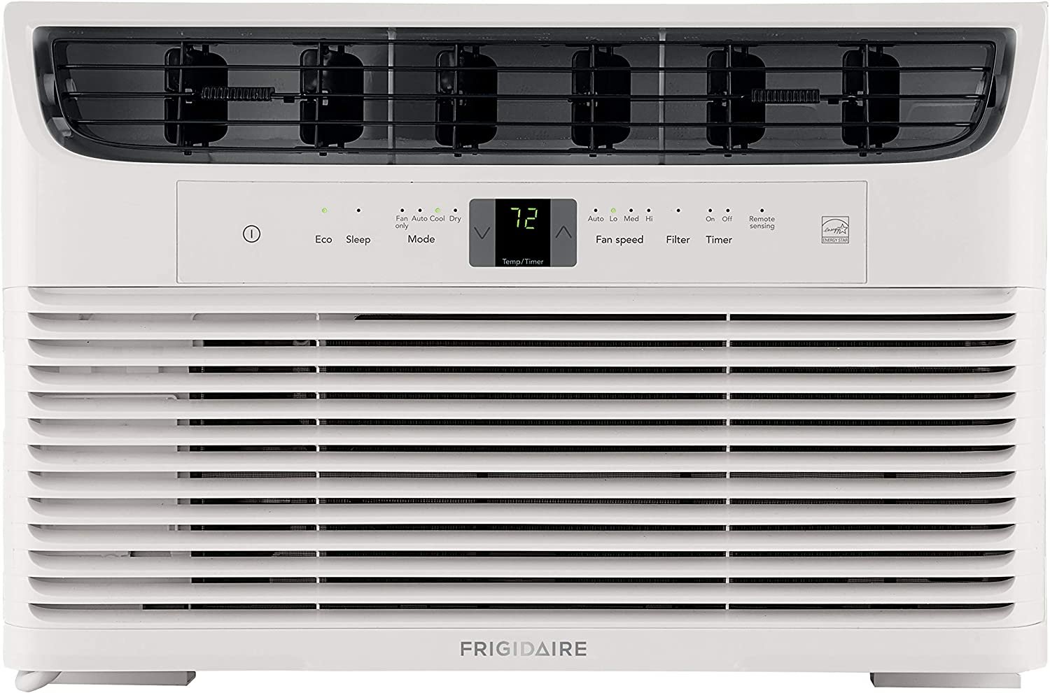 FRIGIDAIRE Energy Star 6,000 BTU 115V Window-Mounted Mini-Compact Air Conditioner with Full-Function Remote Control, White