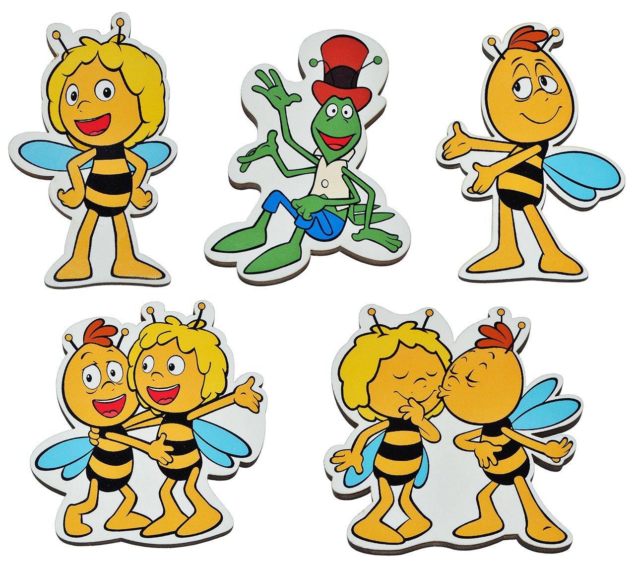 3 Stück: Magnet - Biene Maja - aus Holz für Kinder - Kinderzimmer ...