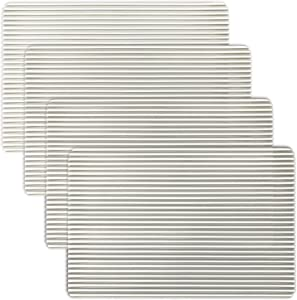 Clear Vinyl Stripe Placemats, Set of 4 (White)