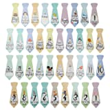 "38 Baby Milestone""First Year"" Necktie Stickers"