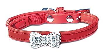 Hilo para cosas lazo gato cuello (5 unidades), color rojo ...
